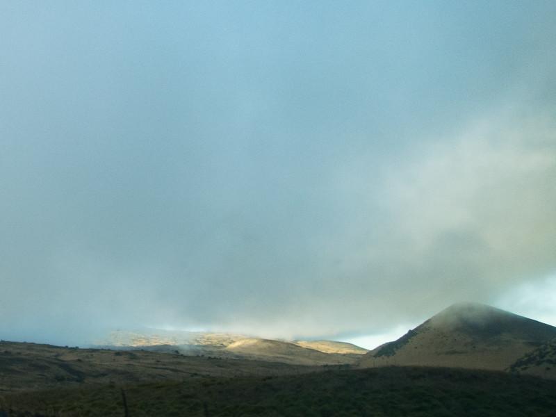 Sunlit hills