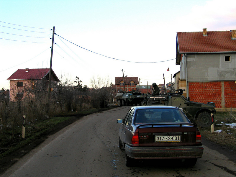 KFOR Roadblock in Obelic.jpg