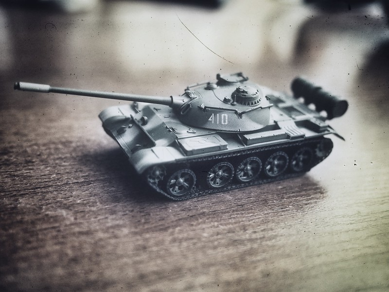 Toy tank and Snapseed