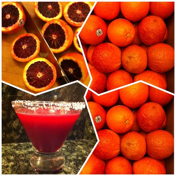 On the table tonite: Blood Orange #Margaritas #jux