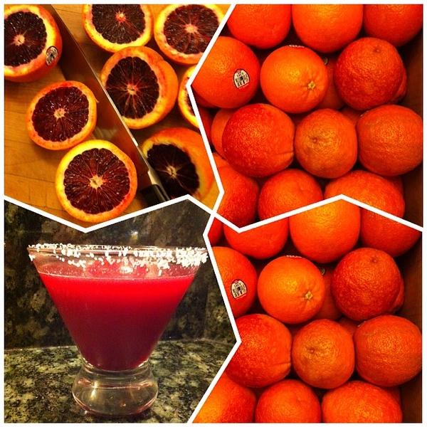 On the table tonite: Blood Orange #Margaritas #jux