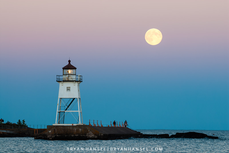 Blue Moon and Lighthouse