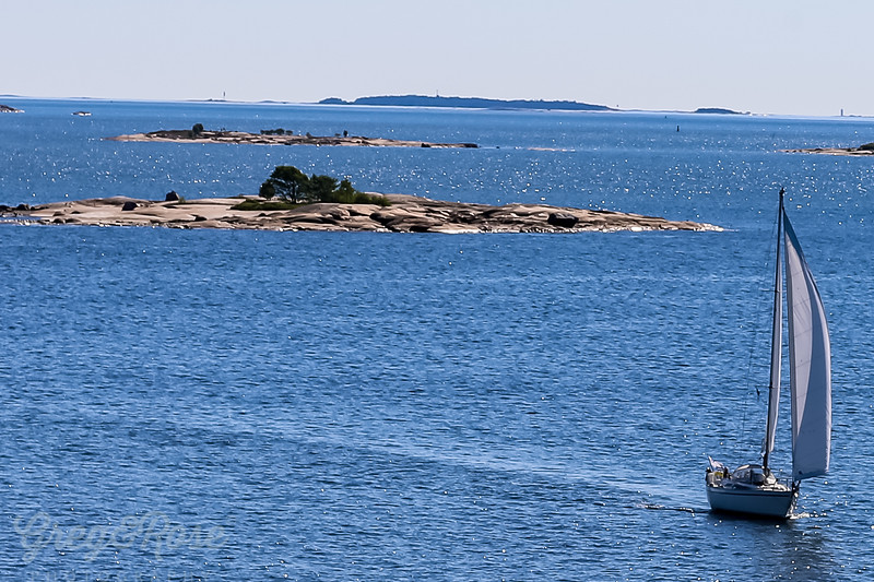 Sailing craft close to Helsinki