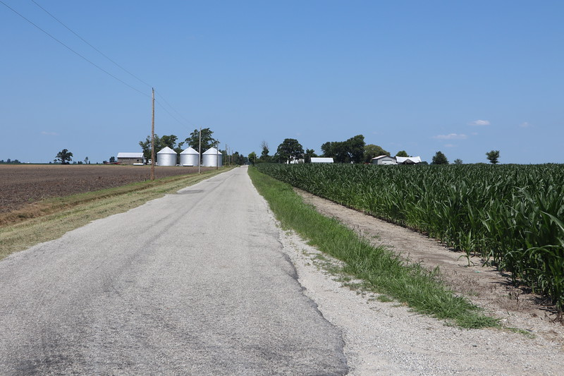 Great Miami Reserve boundary on CR 900E.