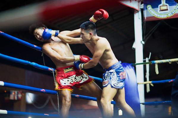 Muay Thai Boxing at Thaphae Stadium