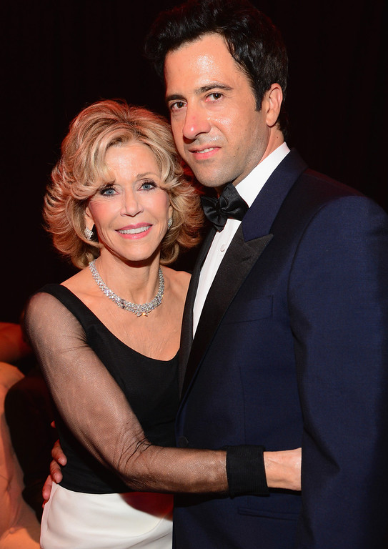 . HOLLYWOOD, CA - JUNE 05:  Honoree Jane Fonda (L) and actor Troy Garity attend the 2014 AFI Life Achievement Award: A Tribute to Jane Fonda After Party at the Dolby Theatre on June 5, 2014 in Hollywood, California. Tribute show airing Saturday, June 14, 2014 at 9pm ET/PT on TNT.  (Photo by Frazer Harrison/Getty Images for AFI)