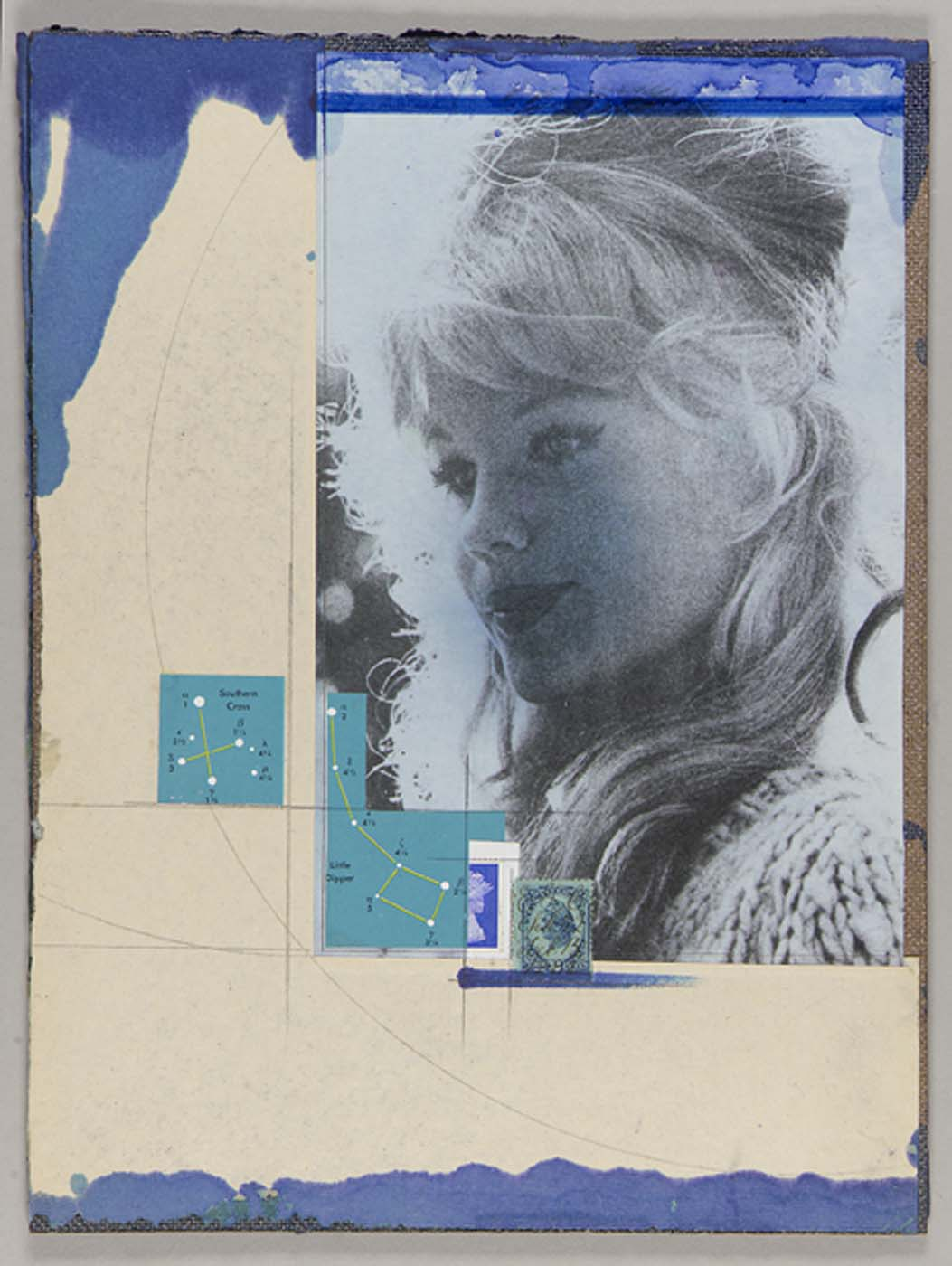 "Joseph Cornell, ""Untitled (long-haired blond female in 3/4 profile),"" n.d."