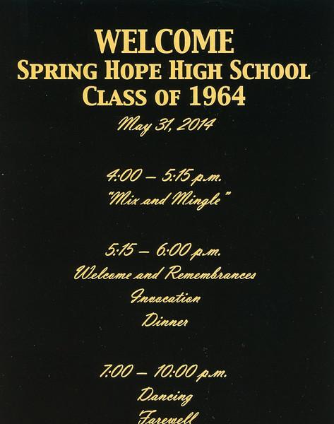 Class of 1964 Spring Hope Reunion