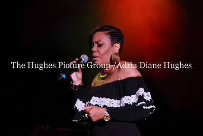 R & B singer, Carol Riddick the opening act for Maze featuring Frankie Beverly at the Dell Music Center in Philadelphia, PA
