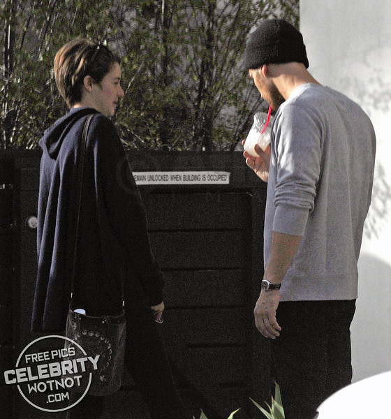 EXC: Shailene Woodley & Theo James On Lunch Date And Share A Tender Embrace in LA
