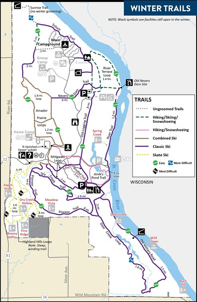 Wild River State Park (Winter Trail Map)