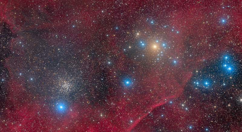 NGC 2451 and NGC 2477 in Puppis