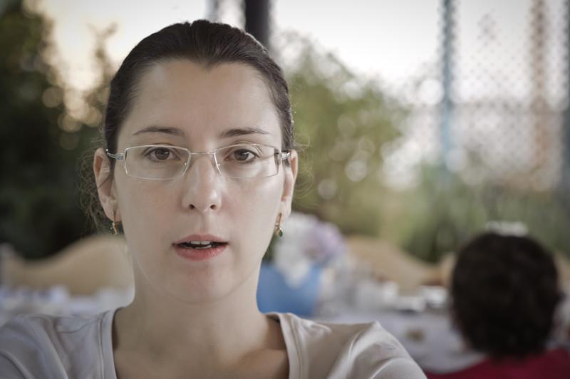 Vika at breakfast