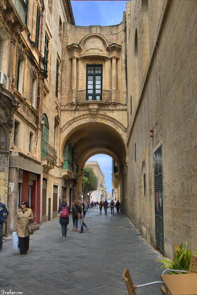 Valletta, Malta.  Old Theatre Street    03/23/2019 This work is licensed under a Creative Commons Attribution- NonCommercial 4.0 International License