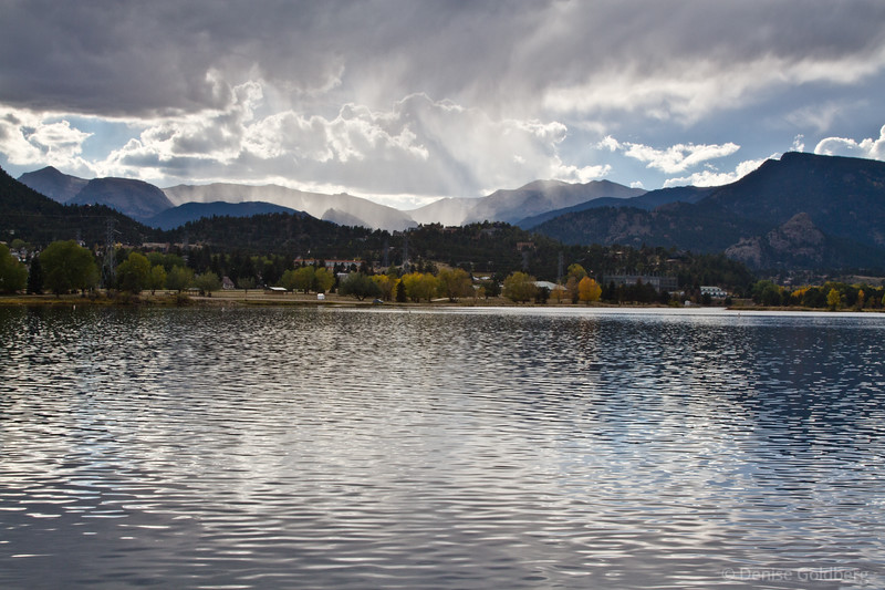 reflecting light on Lake Estes