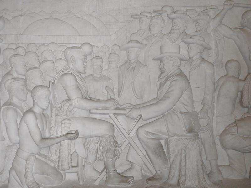 017_Pretoria. The Voortrekker Monument. Commemorating the Great Trek. 15,000 Pioneers. 1835-1854.JPG