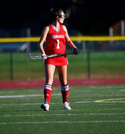 10/15/2019 Mike Orazzi | StaffrConard High Schools Meghan Torla r(1) during a 2-2 tie in field hockey action at Southington High School in Southington on Tuesday afternoon. r
