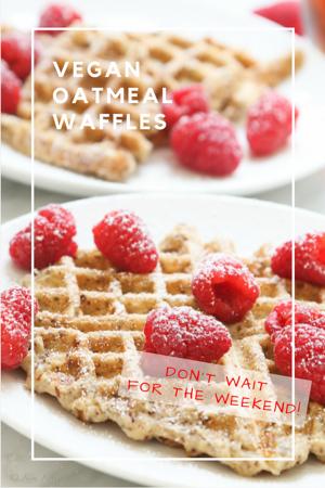 Vegan Oatmeal Waffles