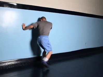 Back step using wall