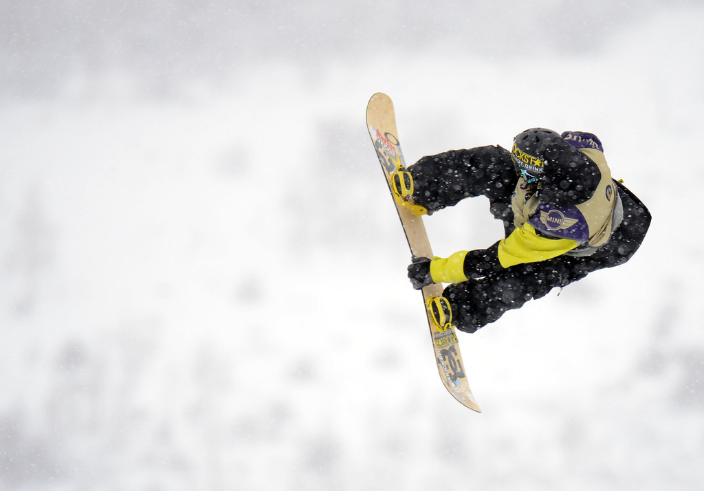 . VAIL, CO. - MARCH 1: Torstein Horgmo catches the air during the men\'s slopestyle final of Burton U.S. Open. March 1, 2013. Vail, Colorado. (Photo By Hyoung Chang/The Denver Post)