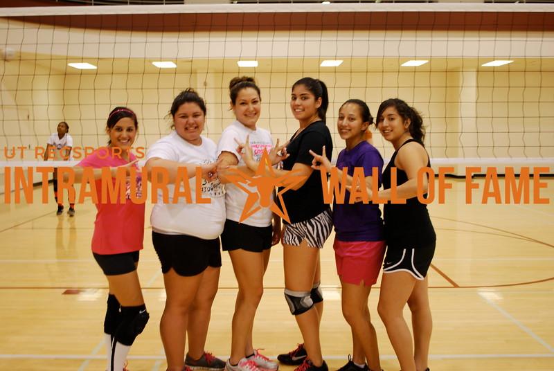 VOLLEYBALL Women's C Runner Up  Sigma Lambda Gamma  Lauren Carrion, Destiny Navaira, Nicole Garcia,  Samantha Martinez, Leticia Hogeda, Maritza Servin