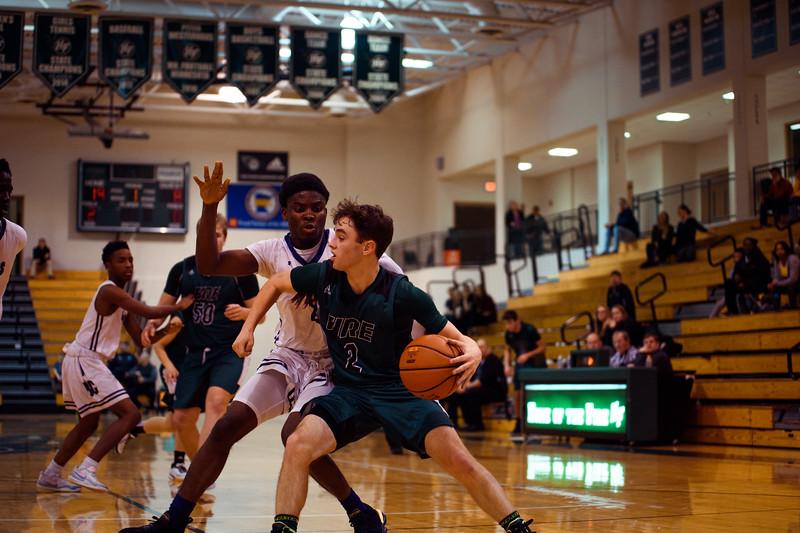 Holy Family Boys Varsity Basketball vs. Brooklyn Center, 12/5/19: Sam McNulty '20 (2)