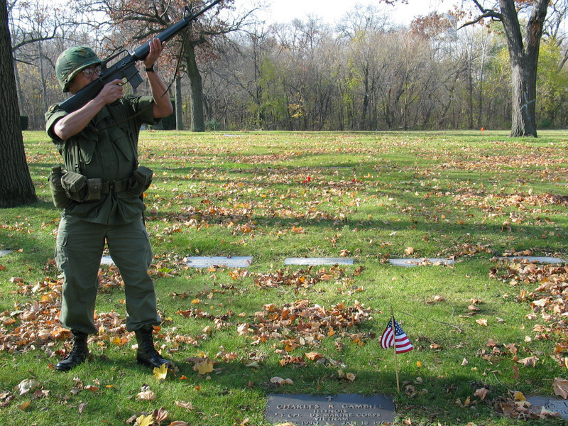 Vietnam War. Military salute