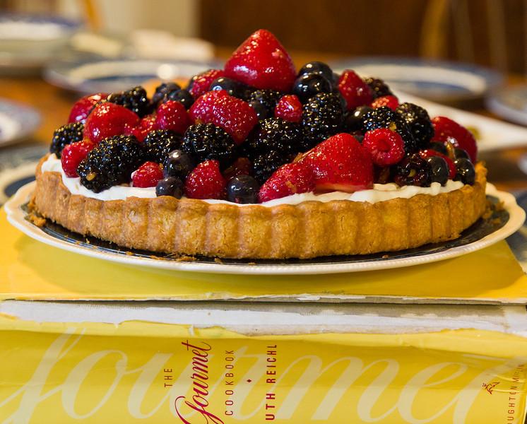Mary's fancy tart, delicious.