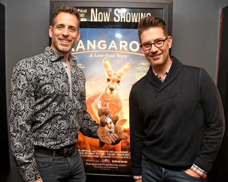 """The NYC Film Premiere and After-Party of """"Kangaroo: A Love-Hate Story"""" at Village East Cinemas and the V-Spot Organic on January 19, 2018 in New York, New York."""