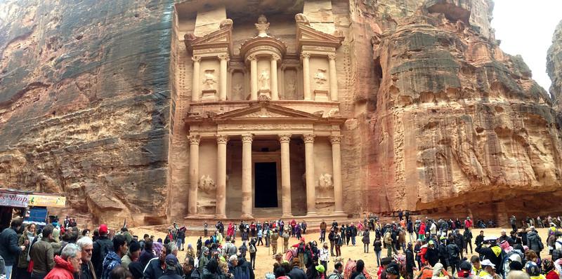 Al Khazneh (The Treasury), from 1st Century AD, originally built as a crypt Petra, Jordan