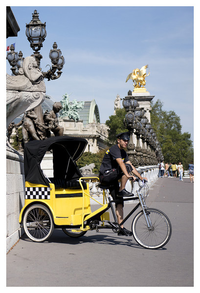 Bike Taxi on the Pont Alexandre