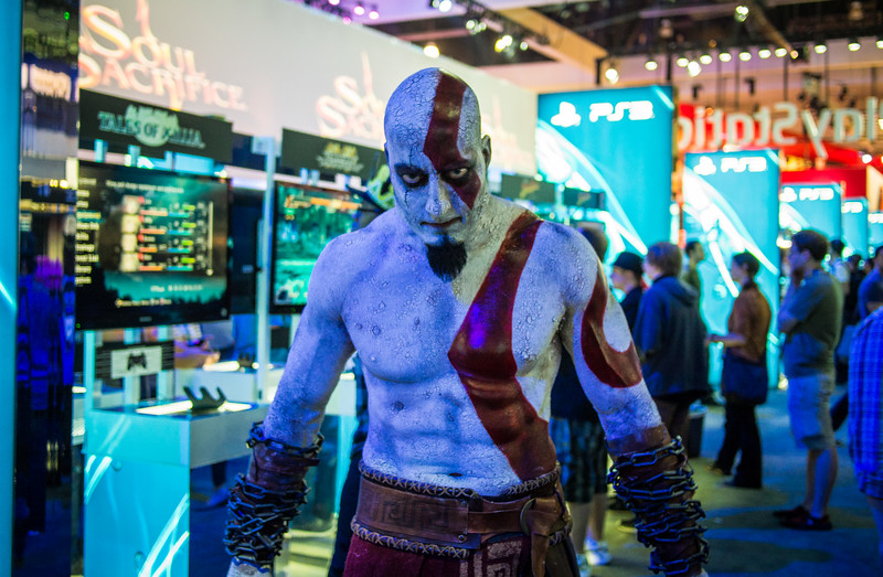 Kratos cosplay at E3 2013