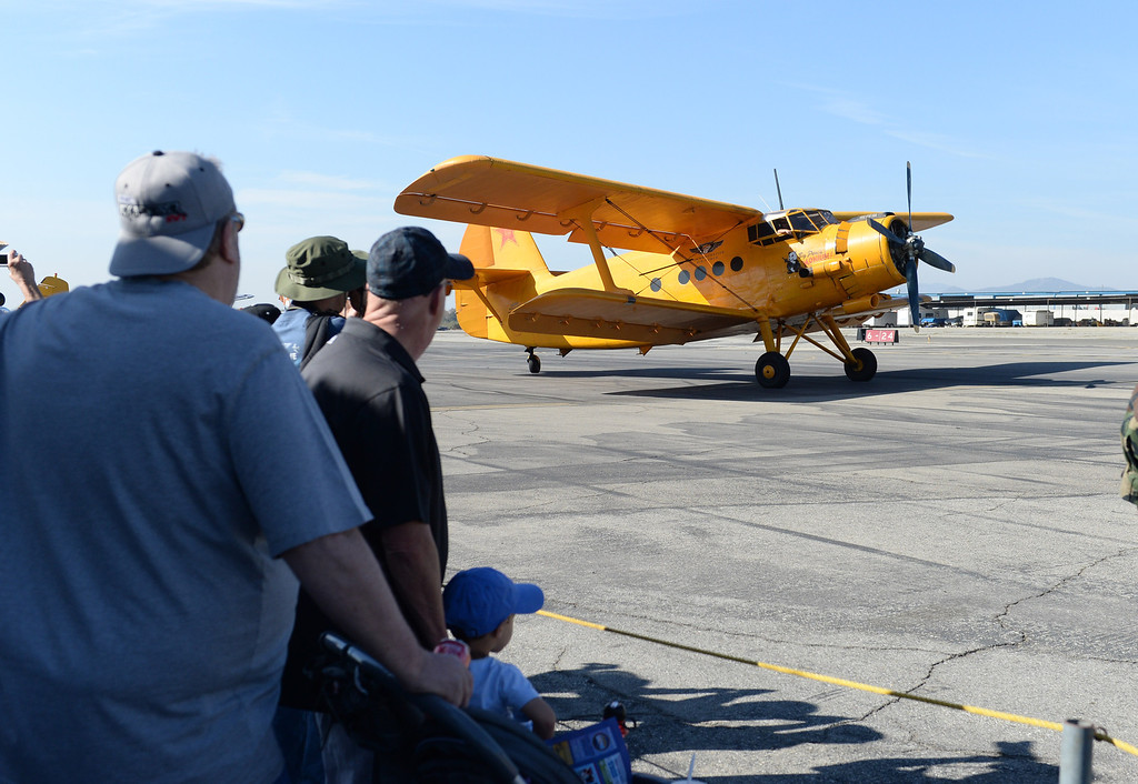. The 39th annual Cable Air Show and Car Show at Cable Airport in Uplands, Saturday Jan. 11, 2013. (John Valenzuela/Staff Photographer)