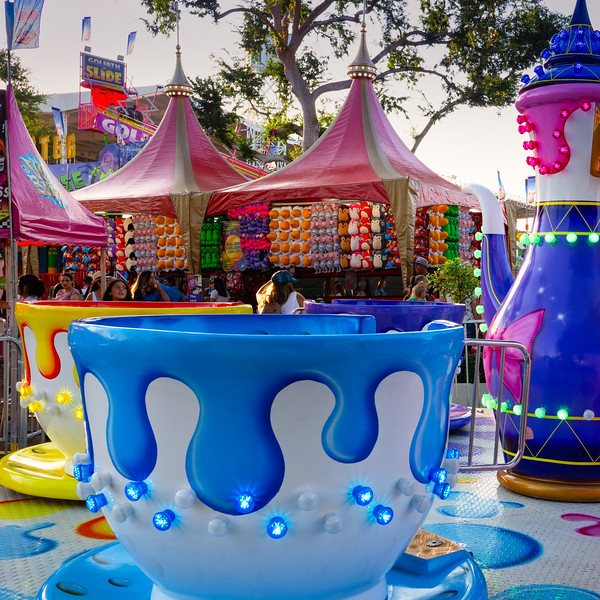 The teacup ride, part of the children's midway
