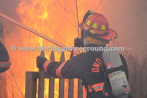 1/31/16 - Onondaga live burn training exercise, 4247 Stone Rd