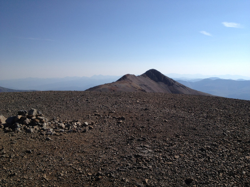 Looking ahead to the more notable Mt. Lincoln.