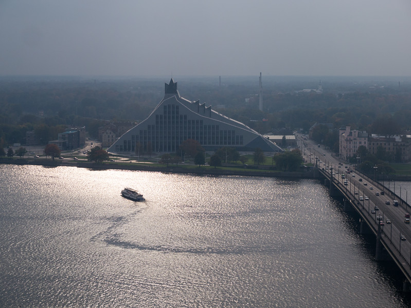 Daugava River and the National Library