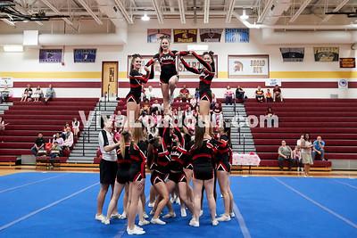 Cheer: Heritage Varsity @ BRHS 10.14.2017 (by Fred Ingham)