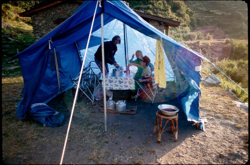 1st day of 9 day trek up Langtang