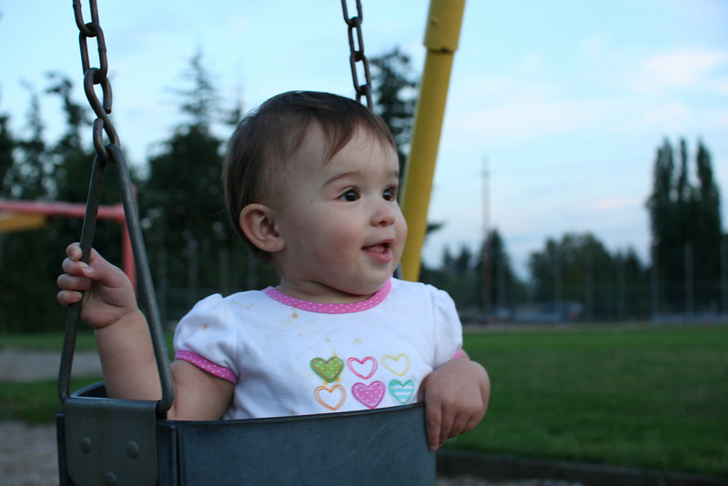 Swinging at Brier park