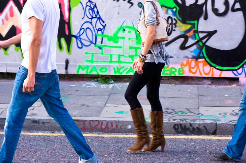 Graffiti on a wall, East London, E1, London, United Kingdom
