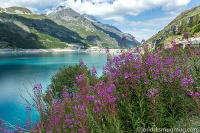 Val d'Isere Town and Lac Chevril