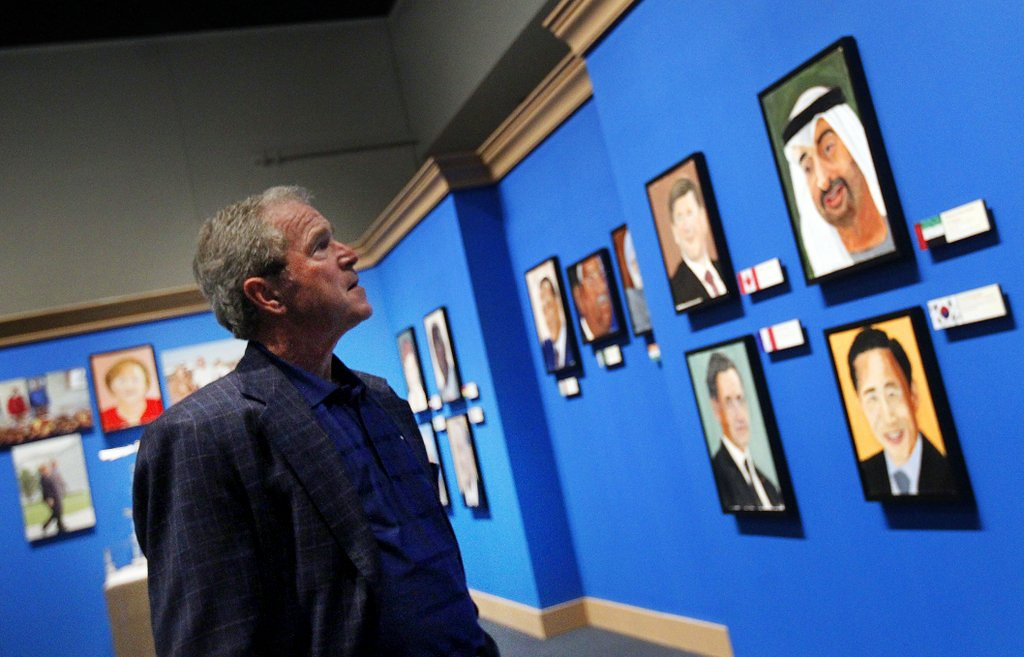 ". <p><b> Former President George W. Bush, in a revealing interview on �Today,� showed the world � </b> <p> A. His portraits of world leaders  <p> B. His new presidential library <p> C. He�s no better at painting than he was at governing <p><b><a href=\'http://www.msnbc.com/morning-joe/watch/painting-a-true-passion-for-george-w-bush-216276035515\' target=""_blank\"">HUH?</a></b> <p>    (AP Photo/The Dallas Morning News, Mona Reeder)"