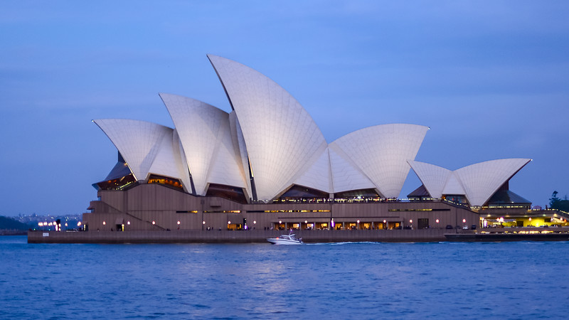 Opera House postcard view