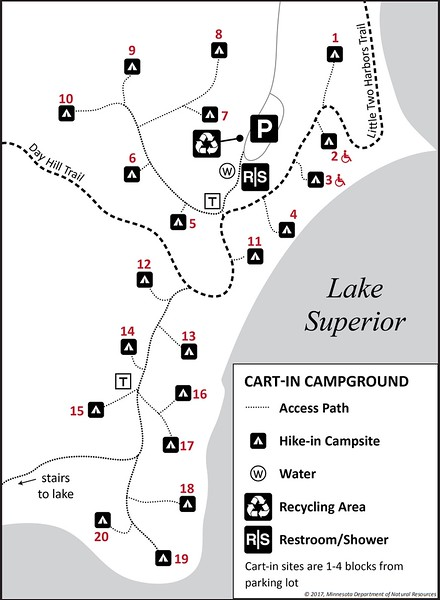 Split Rock Lighthouse State Park (Campground Map)