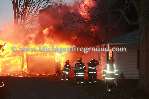3/8/17 - Rives-Tompkins Twp garage fire, 2250 E. Territorial Rd