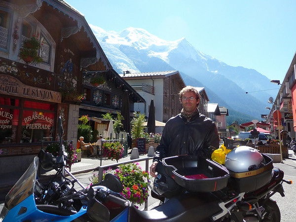 French alps by motorcycle