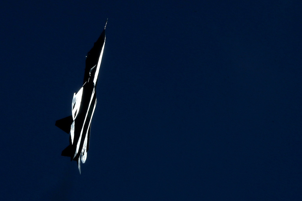 . A Russian stealth fighter T-50 performs during the MAKS-2013, the International Aviation and Space Show, in Zhukovsky, outside Moscow, on August 27, 2013. AFP PHOTO/KIRILL  KUDRYAVTSEV/AFP/Getty Images