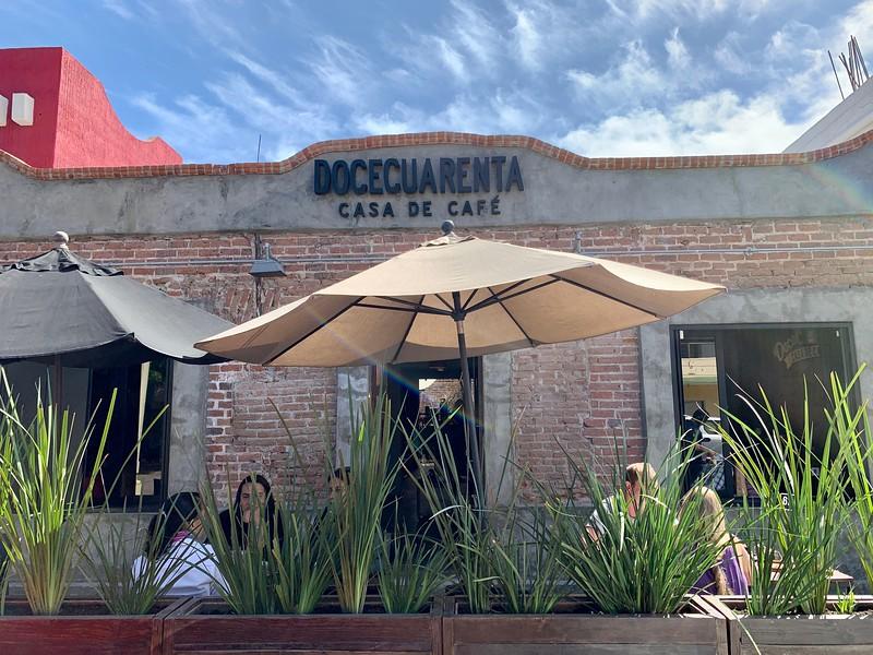 Doce Cuarenta coffee shop in La Paz Mexico