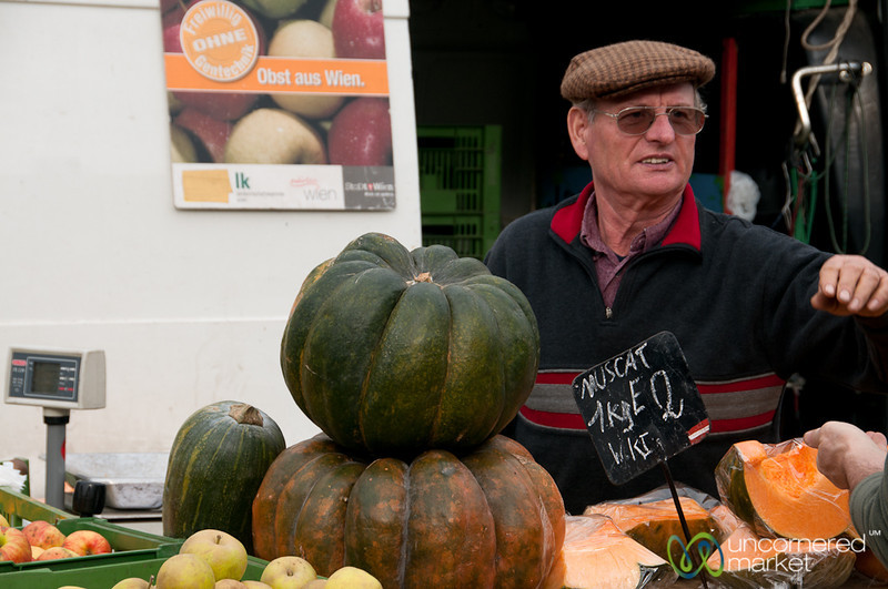 Pumpkin Time at the Naschmarkt - Vienna, Austria